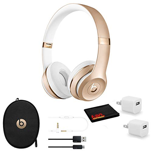 Beats by Dr. Dre Beats Solo3 Wireless On-Ear Bluetooth Headphones (Gold) - Kit with USB...