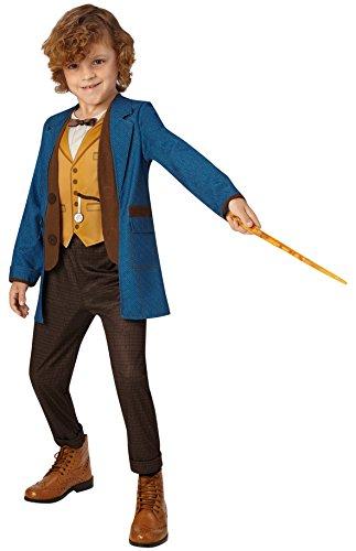 Rubie' s ufficiale Fantastic Beasts Warner Bros Newt Scamander Deluxe Childs costume