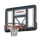 Einfach zu montieren Höhenverstellbar Basketballbrett Größe 110x75cm Hängend Drinnen Draußen Erwachsene Kinder Basketballanlage Korbring Durchmesser 45cm Mit Korbring & Netzset Einstellbar