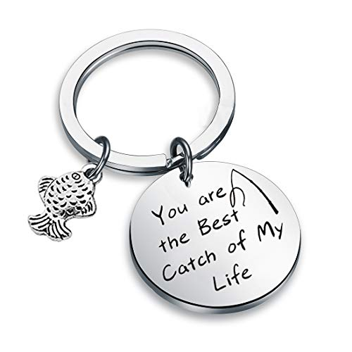 Fishing Lure Jewelry My Best Catch Was You Fisherman Gifts Funny Keychain For Husband Boyfriend (Fishing keyring)