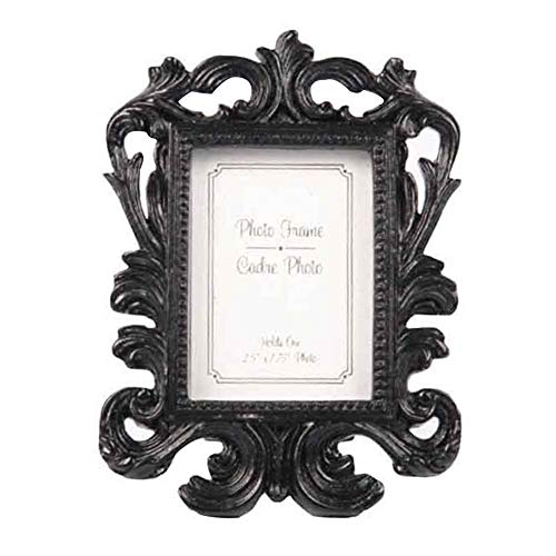 Lionina Marco de fotos, estilo europeo, resina, barroco, ramas, familia, marco de fotos, marco de fotos independiente, decoración del hogar, Negro , Tamaño libre
