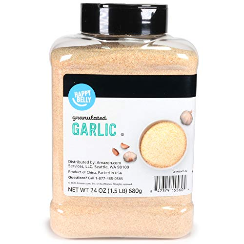 Amazon Brand – Happy Belly Granulated Garlic, 24 Ounces