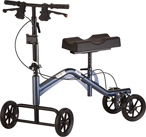 "NOVA Medical Products NOVA Heavy Duty & Extra Tall (up to 6'8"") Knee Scooter, Steerable Knee Scooter with 400 lb Weight Capacity, Bariatric Knee Walker, Crutch Alternative, Metallic Blue Color"