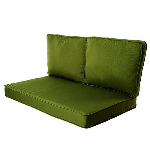 Quality Outdoor Living 29-BA02LV Loveseat Cushion, 46 x 26 3PC, Basil