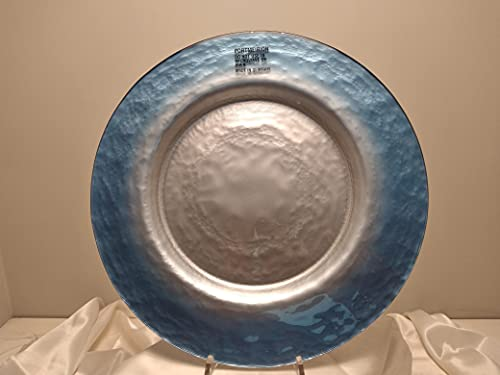 Bajoplato de cristal de 34 cm – Azul plata – SF00203