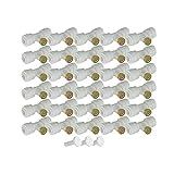 SSXPNJALQ 30 unids Kit de boquillas de nebulización Sistema de enfriamiento Mister Boquillas Slip-Lock Tees Boquillas de Niebla Ajuste para Patio Sistema de Niebla Jardín (Color : White)