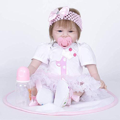 Y DWAYNE 55cm Bebé Reborn Hecho a Mano Realista Silicona Viva Riendo Bebé Navidad Día de los niños