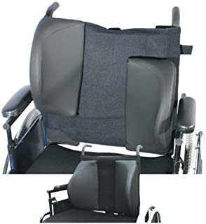 Lacura Lateral Support Assembly, Large, Foam Wing Padding to Support The Torso, Lateral Pads for Improved Comfort and Support with The Elderly, Disabled Users, Wheelchair Accessory Pads
