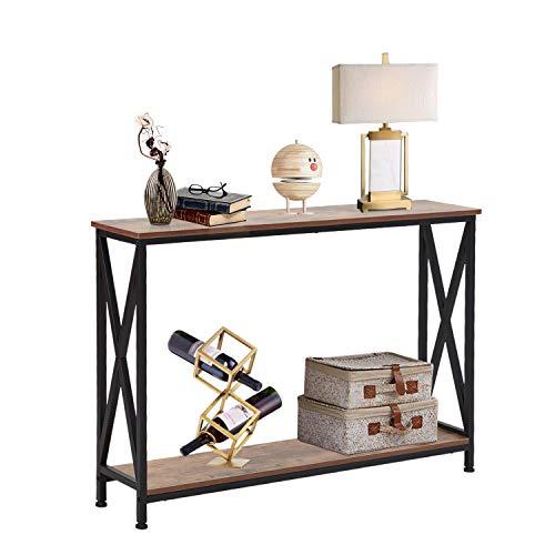 Industrial Sofa Console Table Rustic Hallway Table for Entryway, Living Room, Corridor