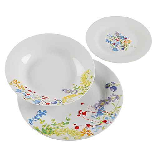 Versa, vajilla 18 piezas blume, linea servicio de mesa, vajillas