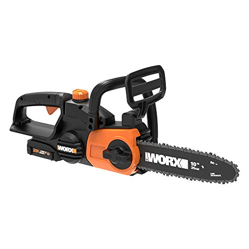 "WORX WG322 20V PowerShare 10"" Cordless Electric Chainsaw with Auto-Tension"