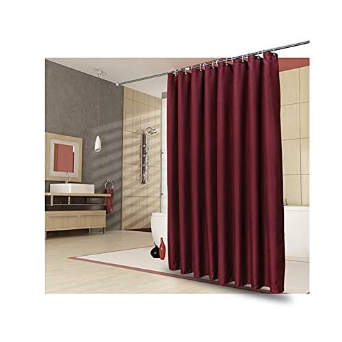 QIAOLI Duschvorhang Wein-rotes Badezimmer-Duschvorhang, Trennwanne Isoliervorhang, wasserdicht Verdickung Duschvorhang Badezimmerzubehör (Größe : 200 * 200cm)