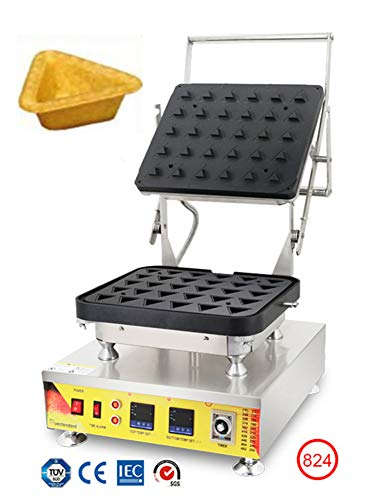 Hanchen Commercial Tart Shell Machine 30 Holes Triangle Electric Replacable Double Digital Custard Maker Cheese Tart Shell Machine Non-Stick Tartlets Bakery Baker Timing Function NP-824