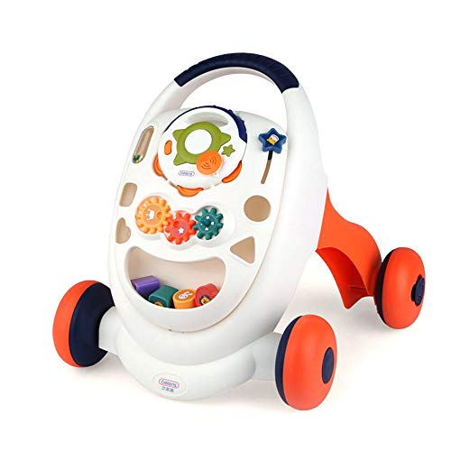 Lowest Price! Tuuertge Stand Learning Walker Multifunctional Baby Walker Trolley Toy Anti-Rollover I...