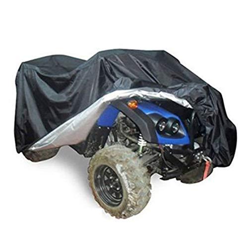 ZZX Copertura per ATV, 210T Poliestere Impermeabile Antipolvere Anti UV Telo Copri per Quad ATV Motociclo Scooter con Sacca per Il Trasporto Protezione,Nero,L