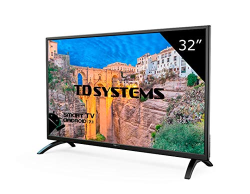 Televisor Led 32 Pulgadas HD Smart, TD Systems K32DLM8HS. Resolución 1366 x 768, 3X HDMI, VGA, 2X USB, Smart TV.