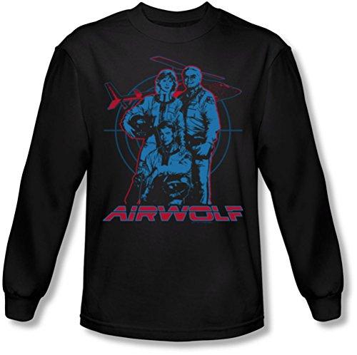 Airwolf - Graphique shirt manches longues de Men In Black, X-Large, Black