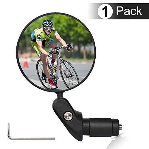 Fahrradspiegel,360° Drehspiegel Rückspiegel Fahrrad und Bicycle Mirror,Safe Rearview Mirror,Rückspiegel Lenkerspiegel Konvexen Reflektor für Fahrrad Bike Mountainbikes,HD Convex Safe Rückspiegel