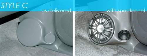 "Q-Logic Custom Kick Panel Speaker Mounts GMC Syclone & Typhoon/Olds Bravada (6.5"" Without Grill, 12 Dark Blue)"