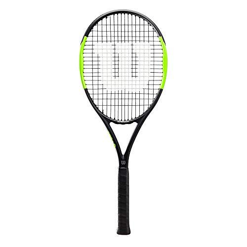 Wilson Tennisschläger, Blade Feel Team 103, Jugend- und Freizeitspieler, Aluminium/Fiberglas, schwarz/lime, WR018910U2