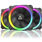 Antec Spark 120mm RGB LEDケースファン ラジエーター 3個パック