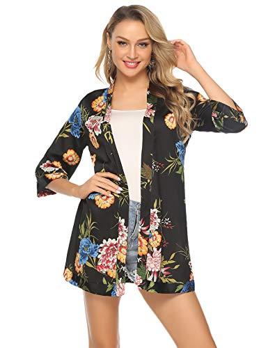 Abollria Cardigan Kimono Donna Copricostume Cover Up Donna Vestaglia per Casa Piscina Vacanze