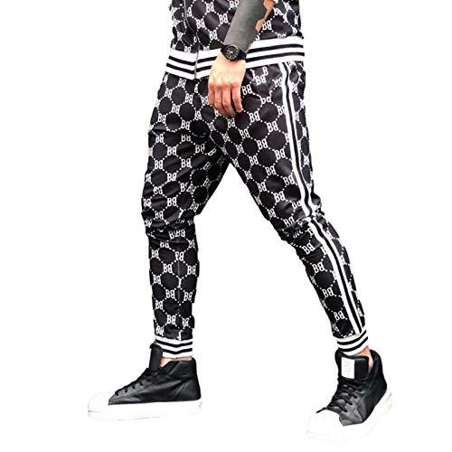 Herren Fitness Sporthose 3D gedruckt Slim Fit europäischen und amerikanischen Modetrend Casual Running Training Pants Medium