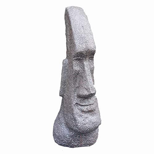 Schmaler Osterinsel Kopf 63 cm Moai wetterfeste Gartenfigur Kopf Figur Moai Figur