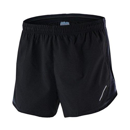 X-Labor Herren Sport Marathon Shorts Kurz Laufhose mit Innenslip Fitness Gym Yoga Laufshorts Trainingsshorts Sporthose grau S