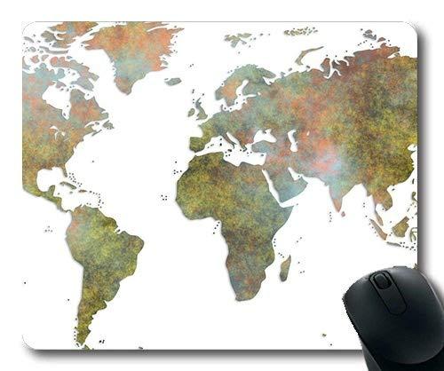 Yanteng Alfombrilla de ratón de Mapa de Novedad, Mapa del Mundo Alfombrilla de ratón de Mapa de YT 045
