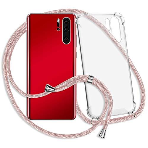 mtb more energy® Handykette kompatibel mit Huawei P smart (5.65'') - roségold - Smartphone Hülle zum Umhängen - Anti Shock Strong TPU Case