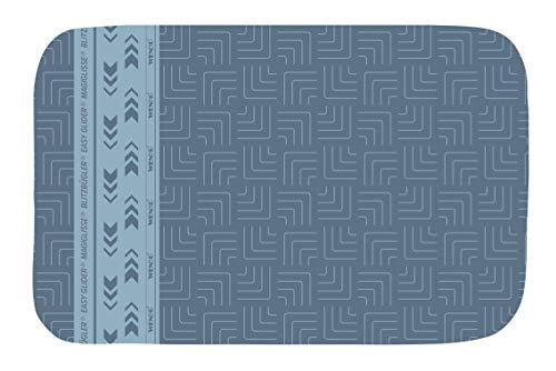 WENKO Bügeldecke Air Comfort Blitzbügler - Tischbügeldecke, hitzereflektierende Bügelunterlagemit Blitzbügelzone für schnelles Bügeln, Baumwolle, 65 x 130 cm, Blau