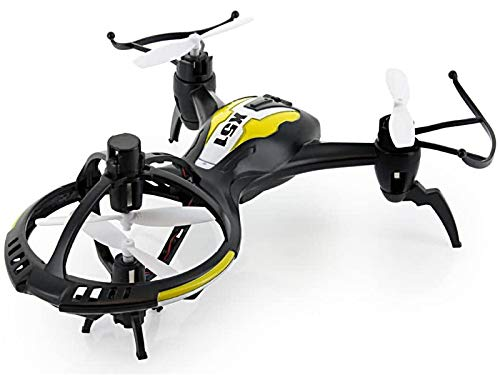 POCO DIVO Alien Spaceship X51 Gyro 3D Flip Tricopter RC Drone 2.4Ghz Flash Quadcopter Dual Speed 4CH Helicopter, Black