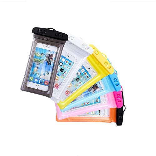 Funda Impermeable Móvil Universal-6 Unidades, Bolsa para Móvil Estanca a Prueba de Agua IPX8 para iPhone XS MAX/XR/XS/X/8/ 8plus/7 Samsung Galaxy s9+/S10Plus / S20 Huawei Pantalla táctil (6pcs)
