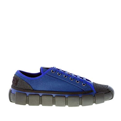 Moncler Hombre Genius 5 Sneaker Craig Green Bradley de lona azul más negro