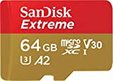 SanDisk 64GB Extreme microSD UHS-I Card with Adapter - U3 A2 - SDSQXA2-064G-GN6MA