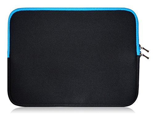 Sweet Tech Black/Blue Neoprene Case Cover Sleeve suitable for Lenovo Miix 520 12.2 Inch Tablet With Keyboard (11.6-12.5 inch Laptop)