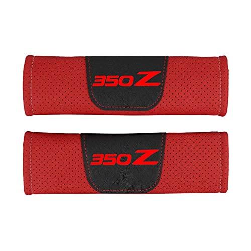 KYQYLL - 2 imbottiture per cintura di sicurezza, per Nissan 350Z, protezione di sicurezza, imbottitura per cintura di sicurezza, accessori interni auto (rosso, rosso)