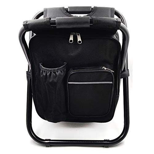 HTTMT - Folding Stool Insulated Cooler Bag Backpack Chair Beach Fishing Camping Hiking [Item Number: ET-Seat001]