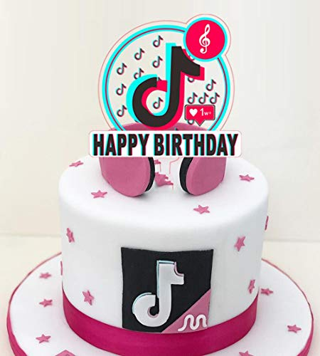 TIK Tok Happy Birthday cake topper