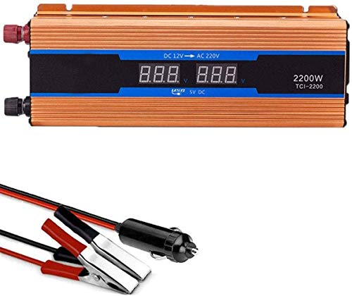 Pico Power Inverter 600W DC 12V a 220V AC sinusoidal modificada convertidor del Coche con Puerto USB, Pantalla LED for el Ordenador portátil, cámara, teléfono Inteligente, Acampar Viaje por Carretera