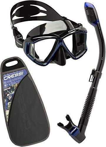 Cressi Pano4&Dry Kits Máscara Tubo, Unisex Adulto, Negro/