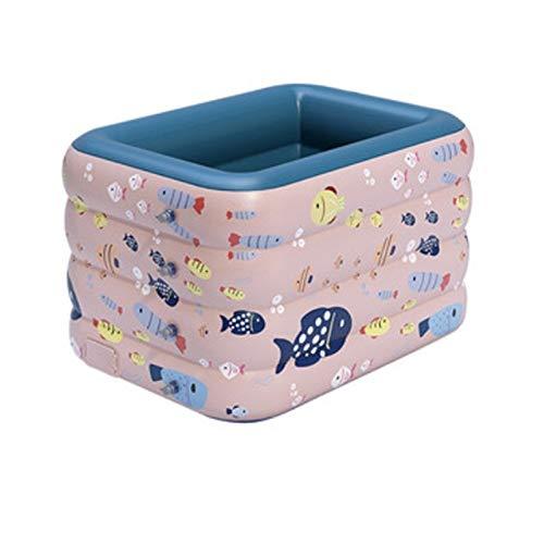 AHP Bañera Inflable para Adultos SPA Mantiene efectivamente la Temperatura Interior y Exterior Adecuada para la Familia o el Viaje (Color : Pink, Size : 3 Pieces)