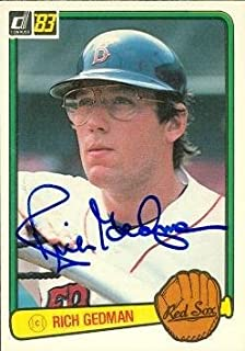 Rich Gedman autographed Baseball Card (Boston Red Sox) 1983 Donruss #156 - Autographed Baseball Cards
