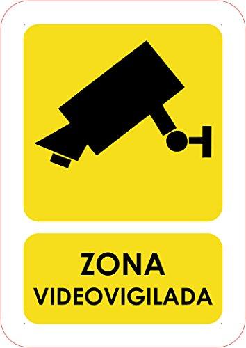 Oedim Señaletica en PVC Zona Videovigilada 20x15 | Señalítica en Material PVC Resistente