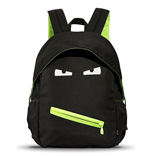 ZIPIT Grillz Backpack for Kids with Extra Side Pocket, Black