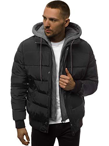 OZONEE heren winterjas jas winter kleurvarianten warm bomberjack gewatteerde jas wintermantel kunstbont donsjack lichte outdoor buffer jas gewatteerd JD/386Z