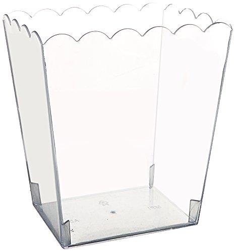 amscan Contenitore plastica Rettangolare 14 x 11 x 15 cm Trasparente, Multicolore
