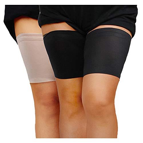JMITHA Elastische Oberschenkel Socken Damen Oberschenkelbänder Damen halterlose Strümpfe Netzstrümpfe elegante Kniestrümpfe (C, Schwarz-Fleisch)