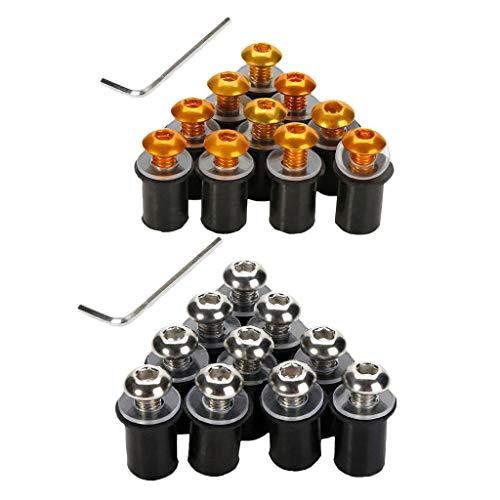 Toygogo 20 Stücke Aluminiumschrauben Schrauben Für Verkleidungsscheibe